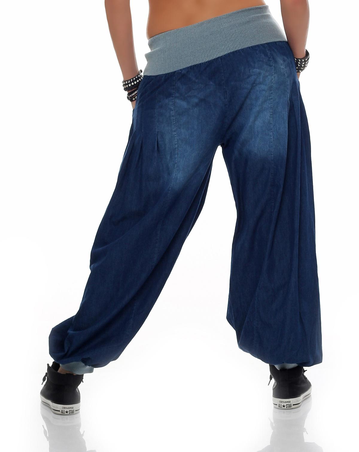 damen haremshose aladinhose pumphose jeans sommerhose. Black Bedroom Furniture Sets. Home Design Ideas