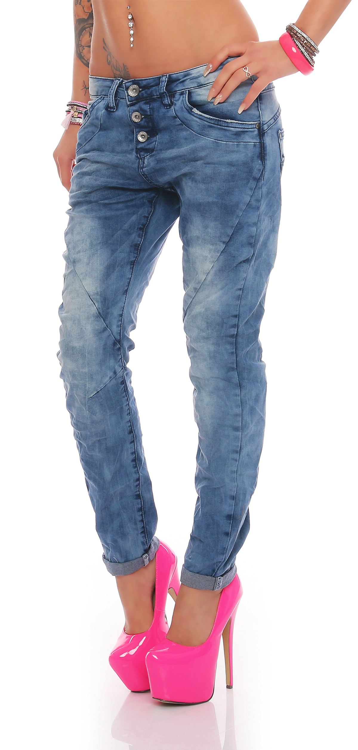 sublevel damen chino jeans boyfriend damenhose damenjeans pump pants cl109 ebay. Black Bedroom Furniture Sets. Home Design Ideas
