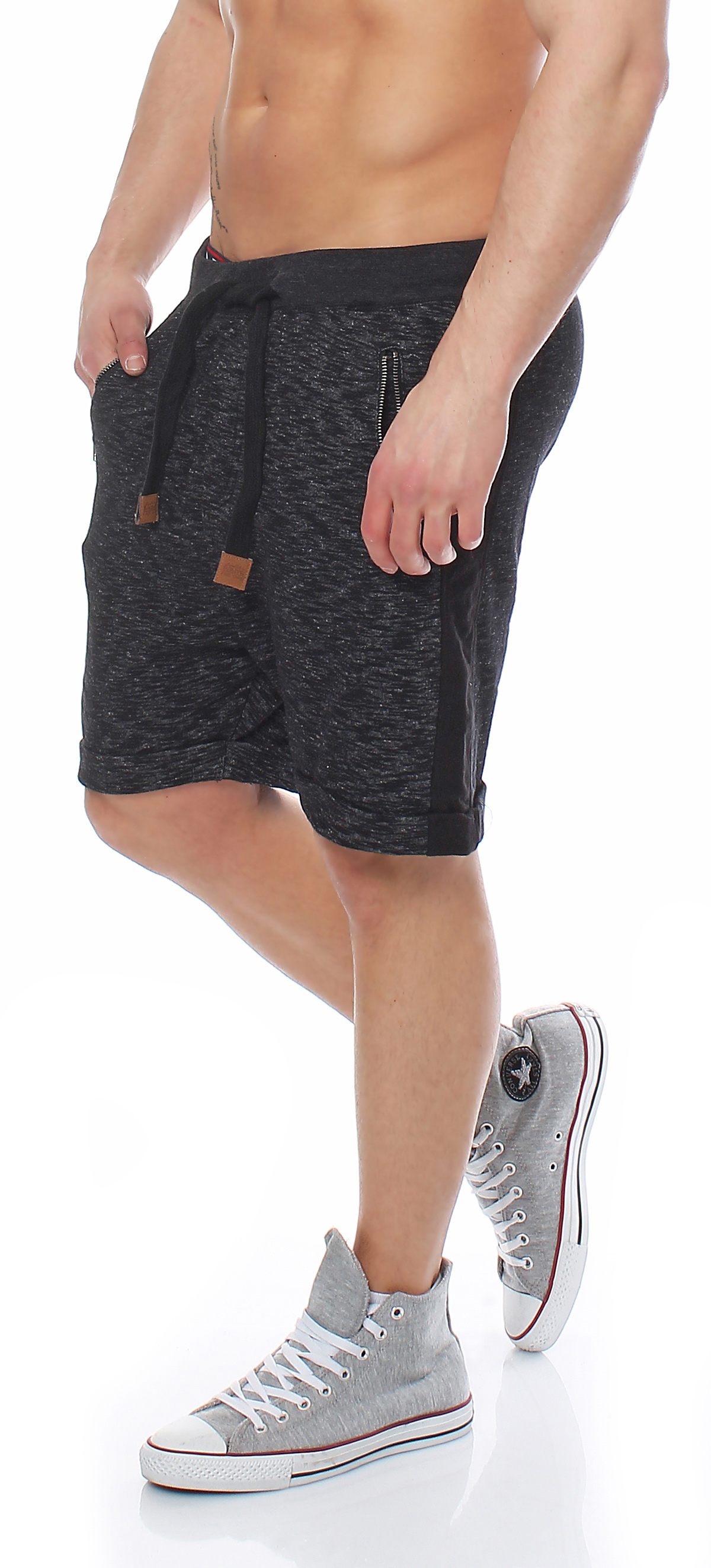 sublevel herren jogging hose kurze hose jogg short sweathose bermuda 1263k ebay. Black Bedroom Furniture Sets. Home Design Ideas