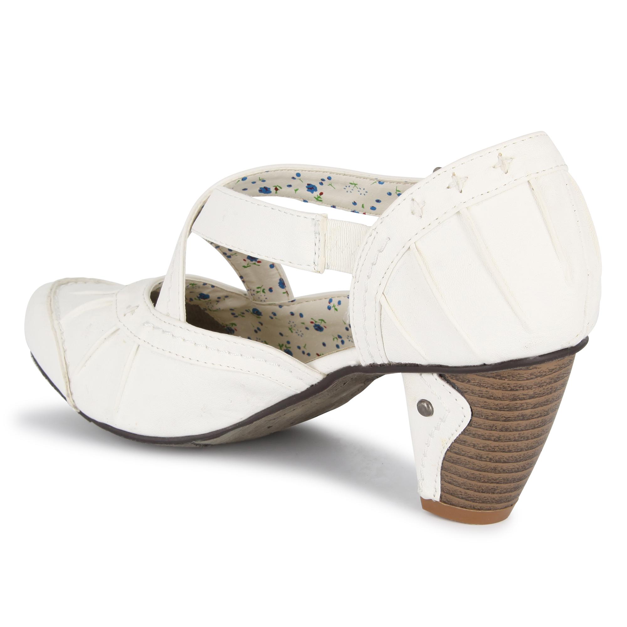 damen pumps riemchenpumps halbschuhe sandaletten damenschuhe weiss 127 ebay. Black Bedroom Furniture Sets. Home Design Ideas
