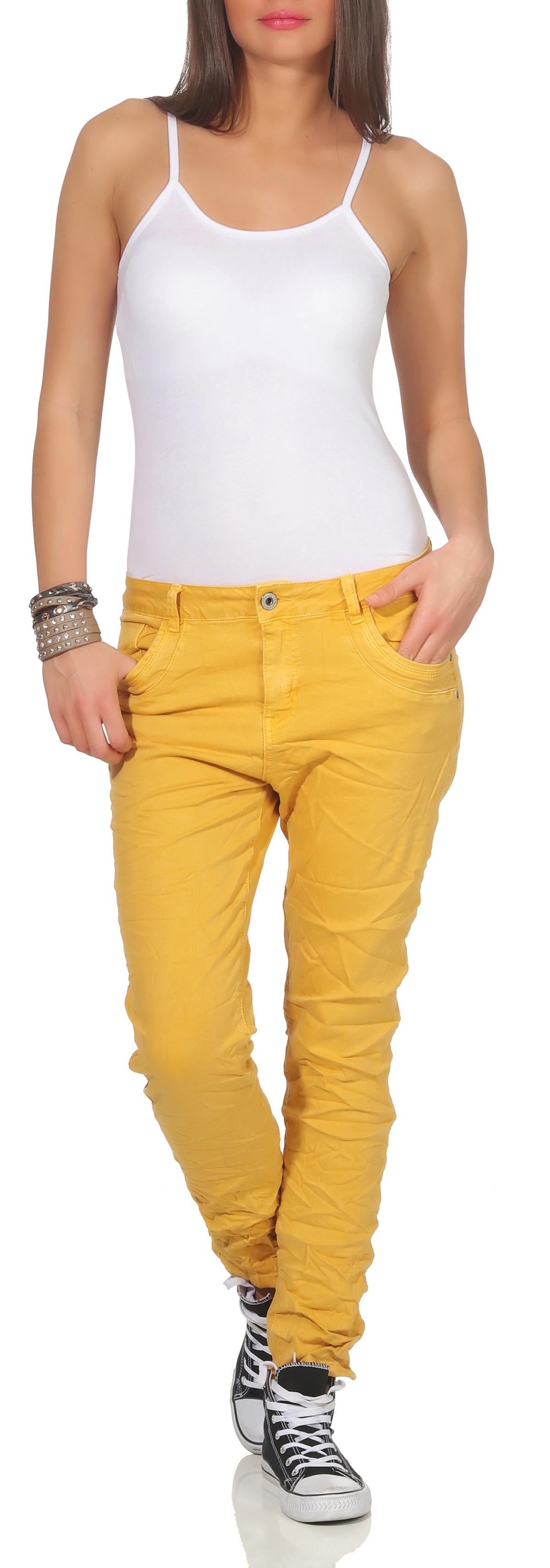 a4a54583e1475f Karostar Damen Jeans Hüfthose Baggy Pants Chino lange Hose Denim Boyfriend  67 Damenmode
