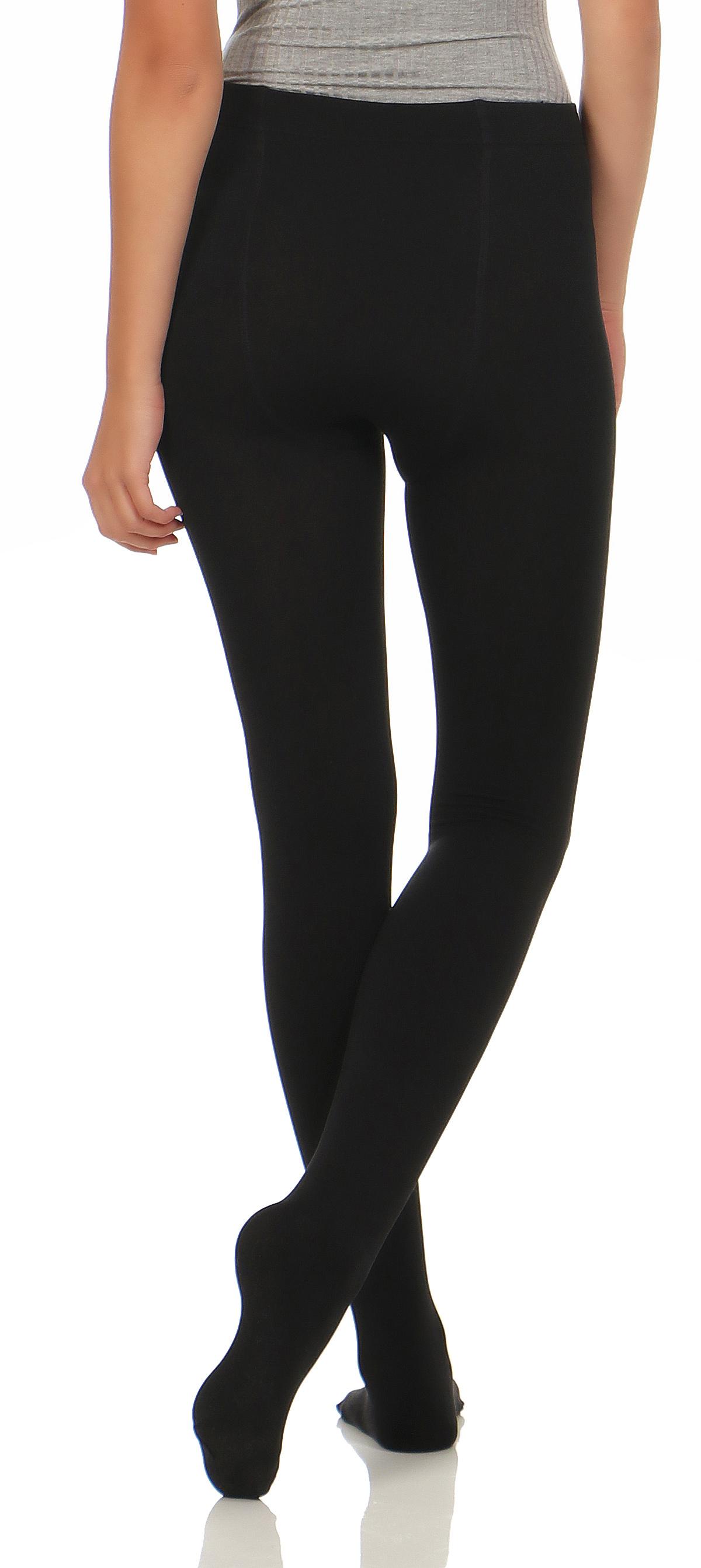2er pack damen thermo strumpfhosen leggings hose pants mit. Black Bedroom Furniture Sets. Home Design Ideas