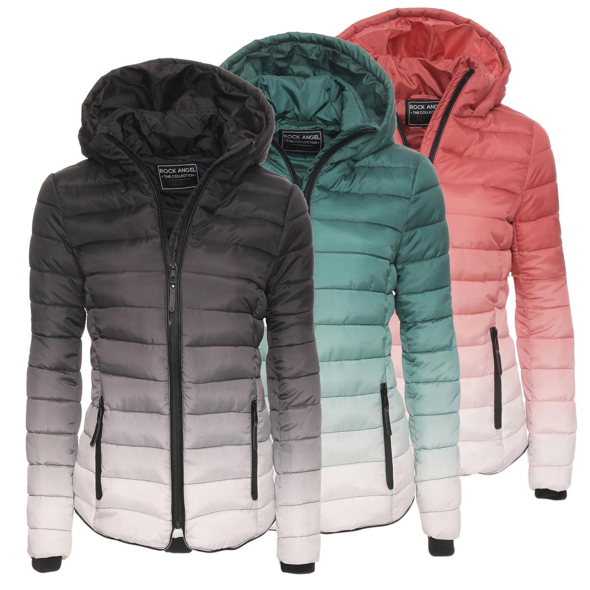 rock angel women 39 s winter quilted jacket hood transition jacket size m l xl 44366a ebay. Black Bedroom Furniture Sets. Home Design Ideas
