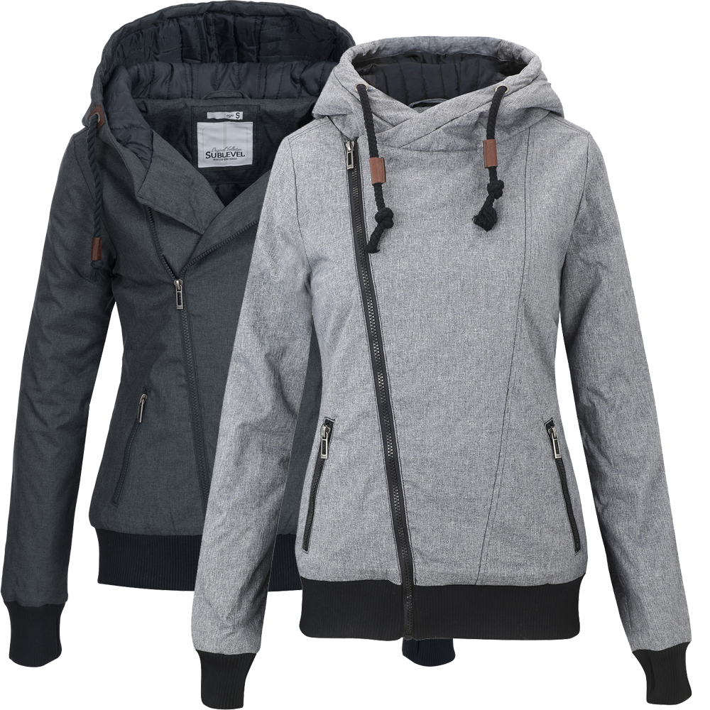 sublevel damen herbst winterjacke parka mantel steppjacke kapuze 44308b ebay. Black Bedroom Furniture Sets. Home Design Ideas