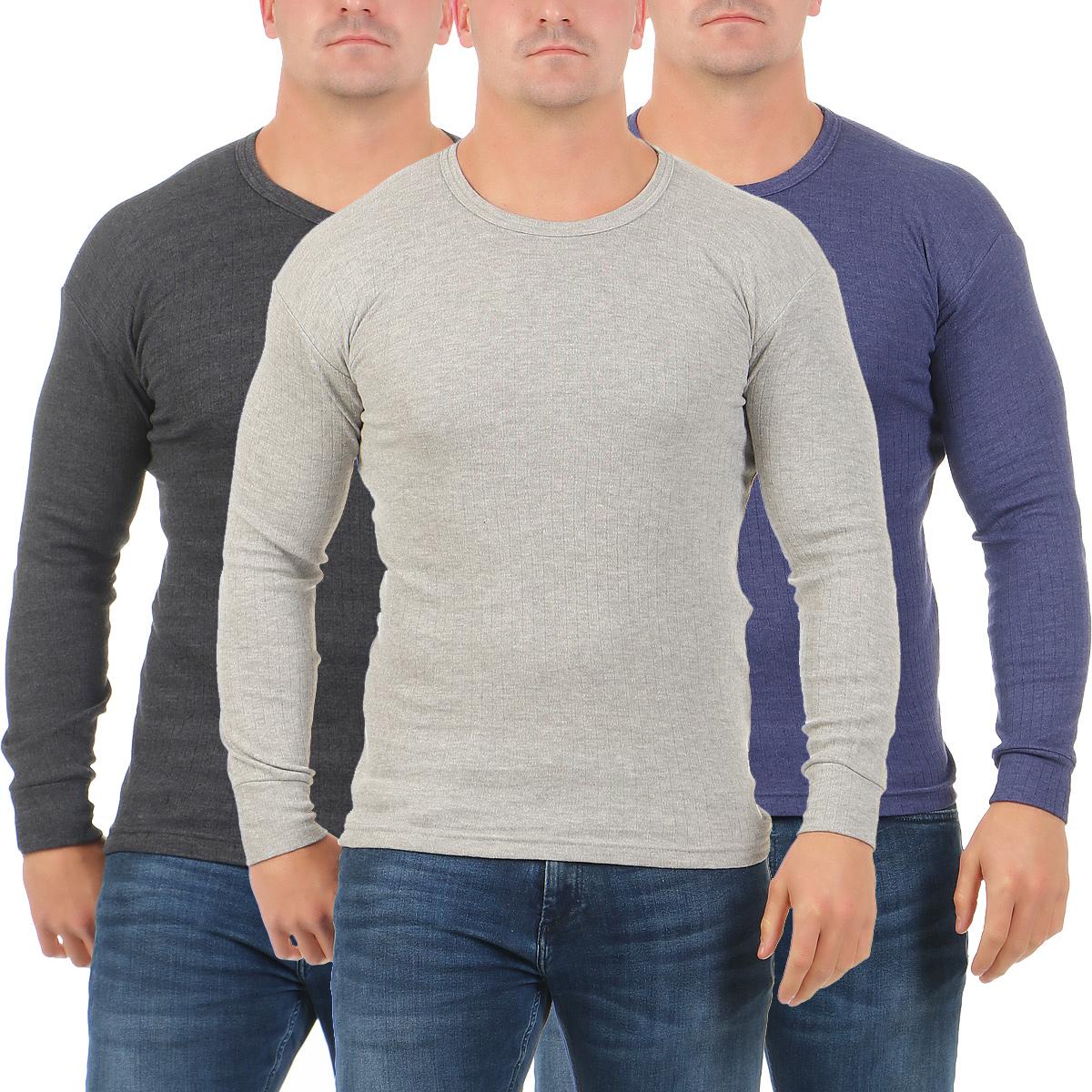 124b8f04fd72 Herren Thermo Unterhemd langarm warm Rippshirt angerauht Unterwäsche ...