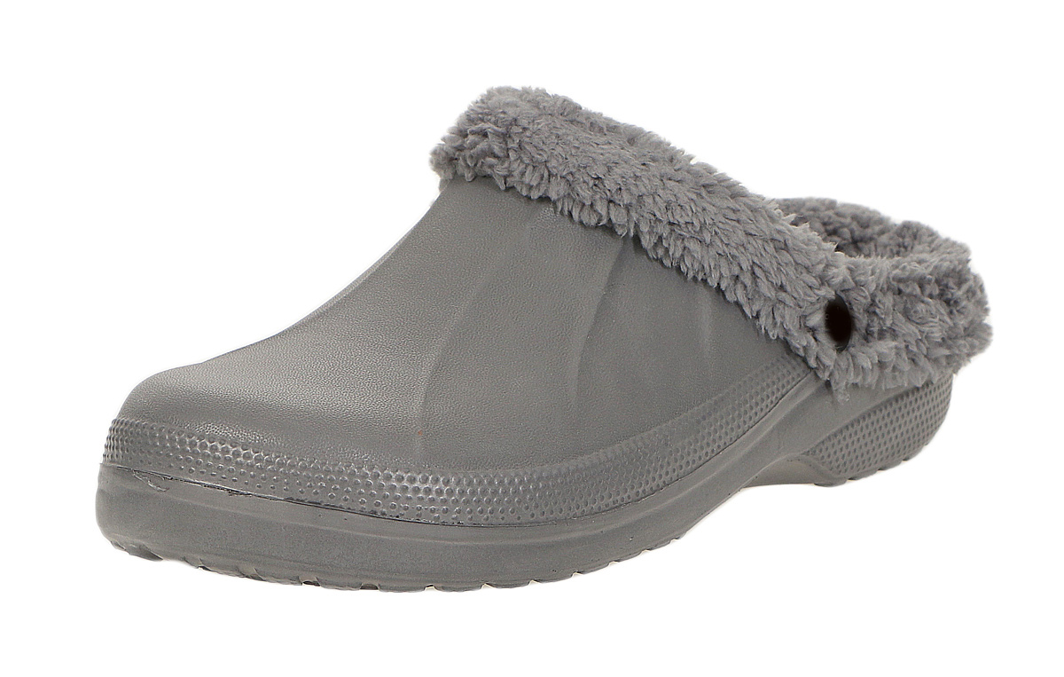 herren damen winter clogs gef ttert hausschuhe pantoffeln fell schuhe latsch 12m ebay. Black Bedroom Furniture Sets. Home Design Ideas